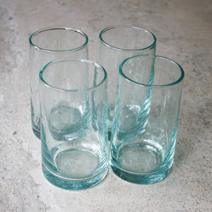 Moroccan Highball Glasses - Aqua - Set of 4