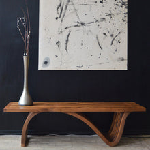 Load image into Gallery viewer, Sculptural Slatted Walnut Bench / Coffee Table by OTTRA