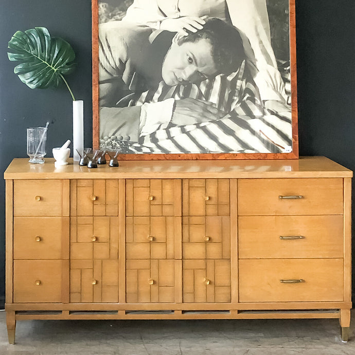 Blonde & Brass Finish Dresser