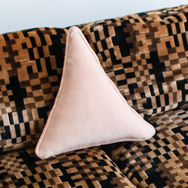 Velvet Triangle Pillow - Blush
