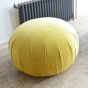Citron Velvet Bubble Pouf