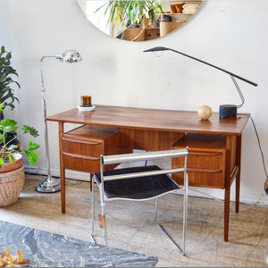 Danish Teak Mid Century Executive Desk