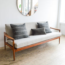 Load image into Gallery viewer, Walnut Daybed w/ Dove Grey Crypton Cushions