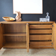 Load image into Gallery viewer, Extendable Oak & Brass Sideboard