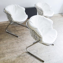Load image into Gallery viewer, Gastone Rinaldi Chrome & Leatherette Cantilever Chairs