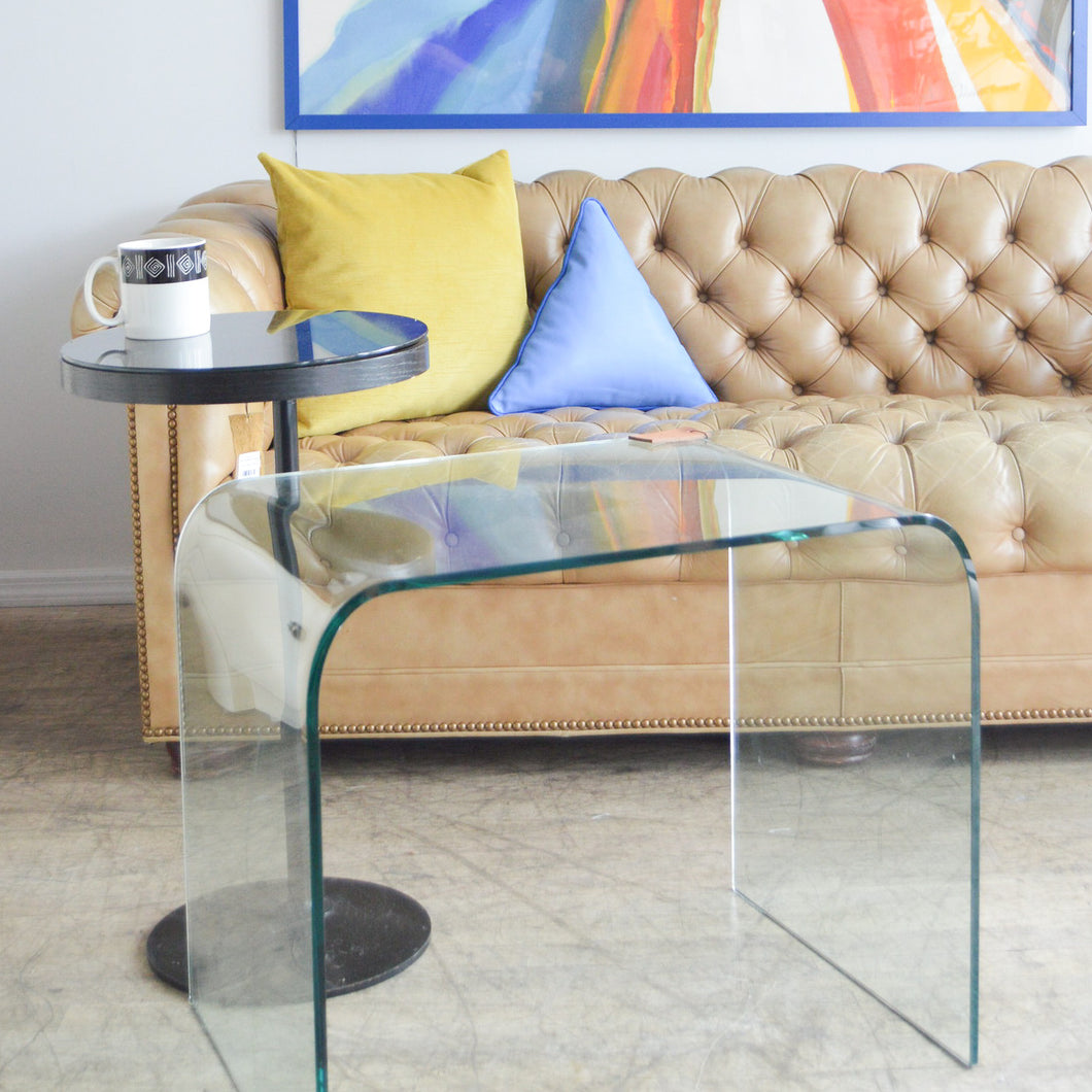 Glass Waterfall Side Table