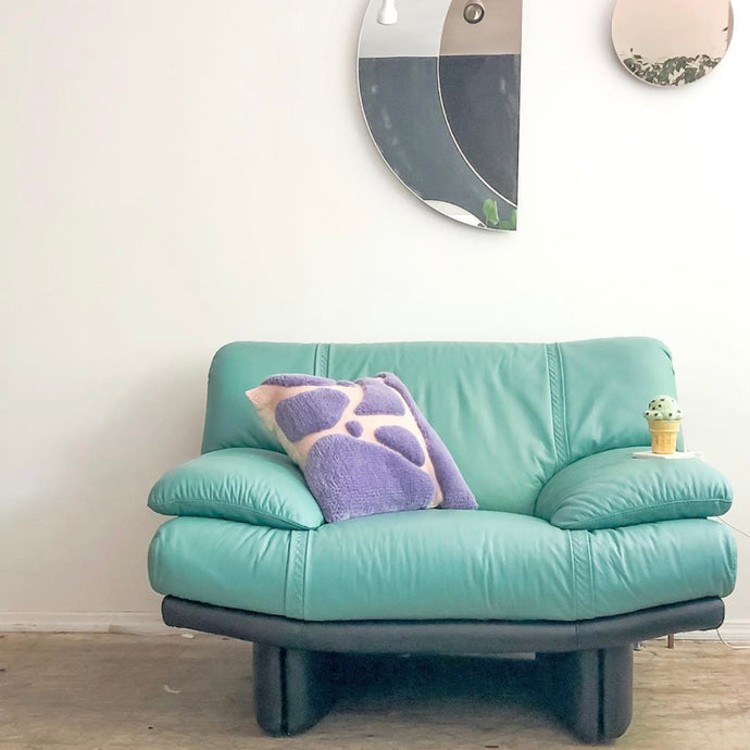 Teal Leather Chair
