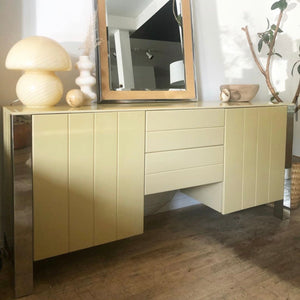 Peaches & Chrome Credenza