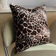 Load image into Gallery viewer, Velvet Square Pillow - Giraffe