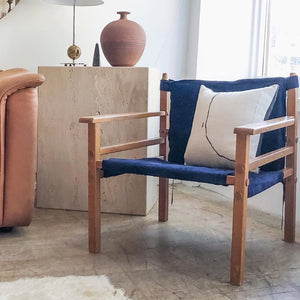 Indigo Suede Safari Chair
