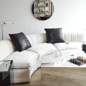 Ivory Cloud Curve Sectional Sofa