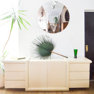 Ivory Lacquer Credenza