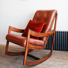 Load image into Gallery viewer, Leather Rocking Chair