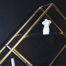 Load image into Gallery viewer, Brass & Glass Milo Baughman Etagere