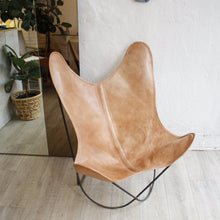 Load image into Gallery viewer, Leather Butterfly Lounge Chair