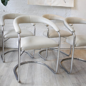 Vintage Anton Lorenz for Thonet Cantilevered Steel Chair