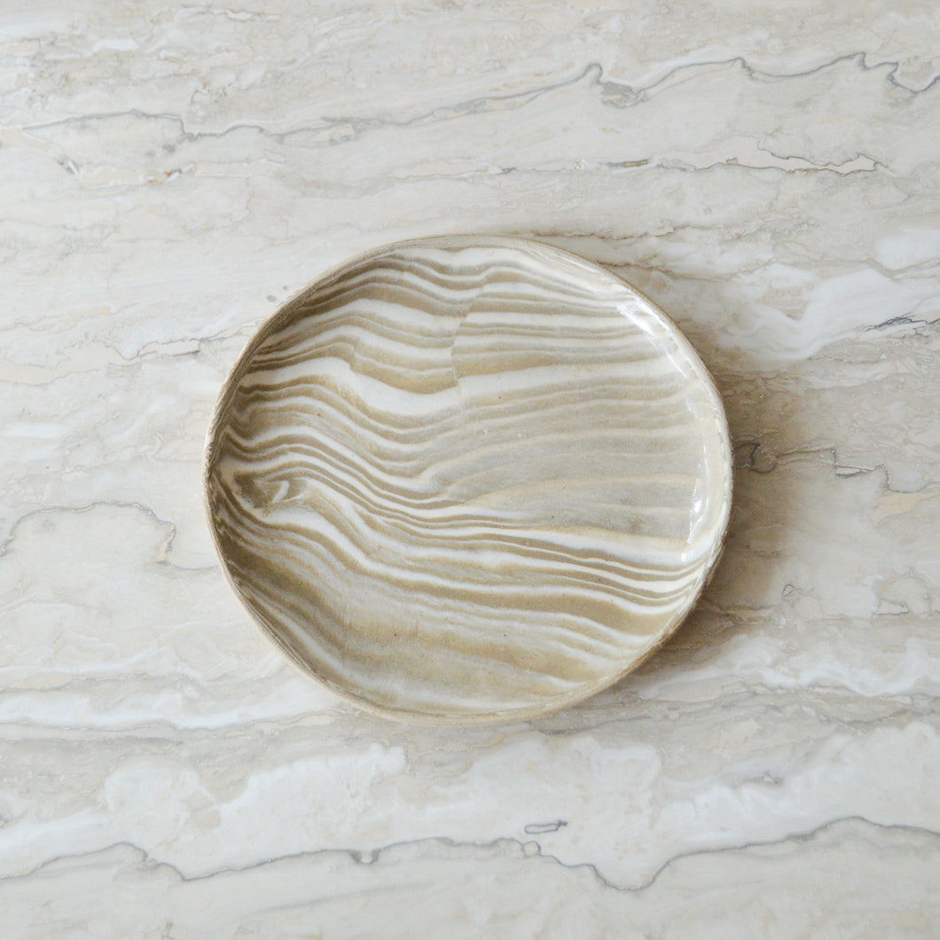 Marbled Salad Plate 1 - MYS Ceramics