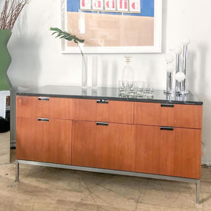 Marble + Chrome Credenza