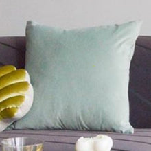 Load image into Gallery viewer, Velvet Square Pillow - Mint