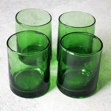 Load image into Gallery viewer, Moroccan Rocks Glasses - Emerald - Set of 4