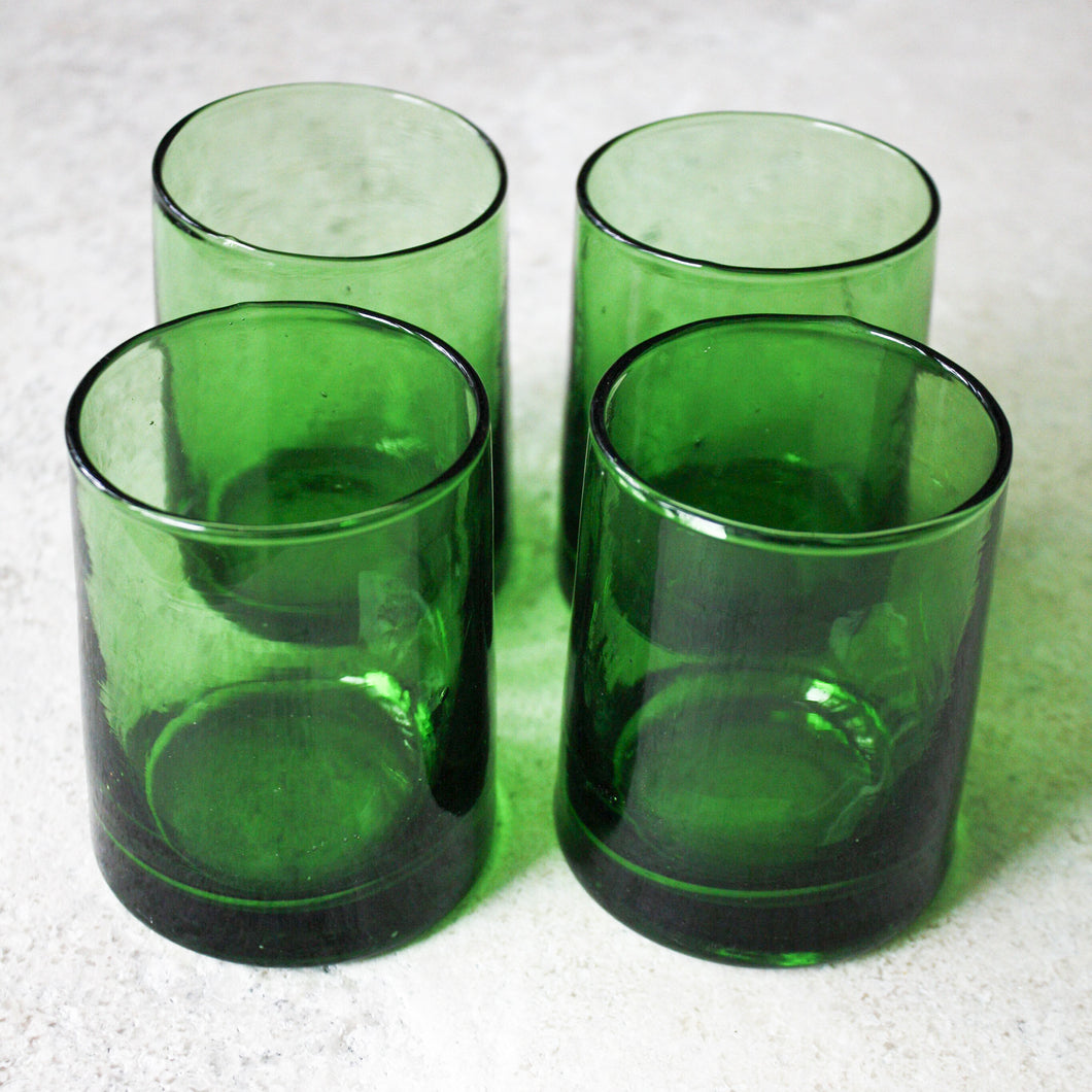 Moroccan Rocks Glasses - Emerald - Set of 4