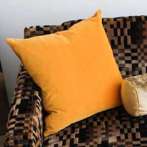 Velvet Square Pillow - Mustard