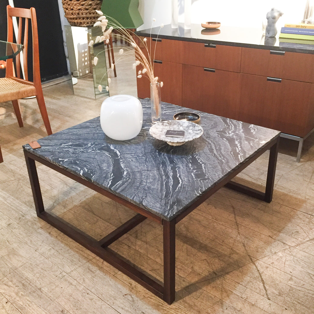 Noir Marble & Walnut Coffee Table