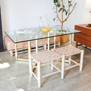 Parable Architectural Brass & Glass Table