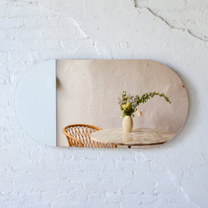 Split Oval Mirror