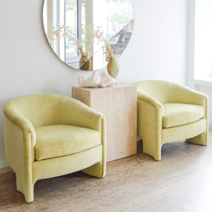 Pistachio Velvet Club Chair