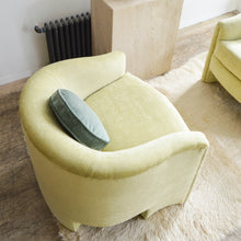Load image into Gallery viewer, Pistachio Velvet Club Chair