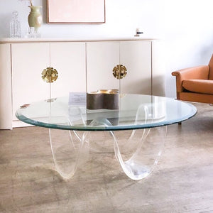 Acrylic Wave Coffee Table