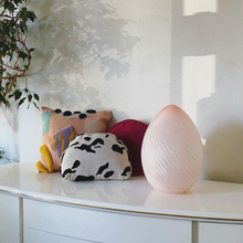 Load image into Gallery viewer, Murano Blush Egg Lamp