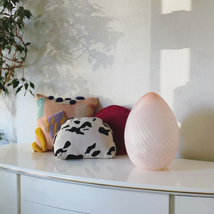 Murano Blush Egg Lamp