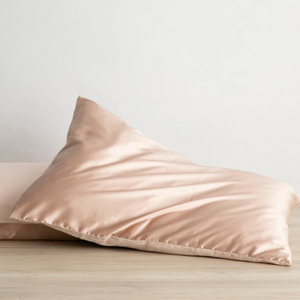 Silk Linen Flip Pillowcase - Blush