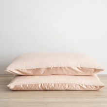 Load image into Gallery viewer, Silk Linen Flip Pillowcase - Blush