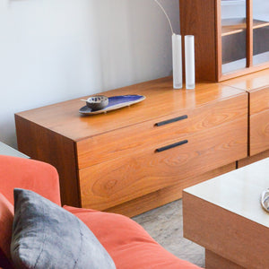 Teak Low Drawers