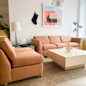 Terra Cotta Twill Sofa & Loveseat