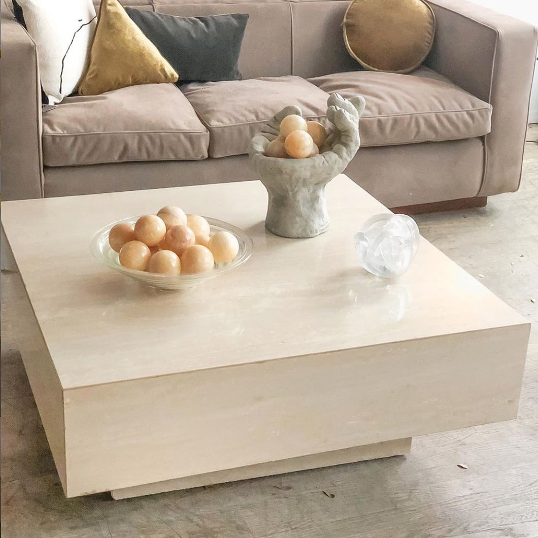 Travertine Tiered Coffee Table