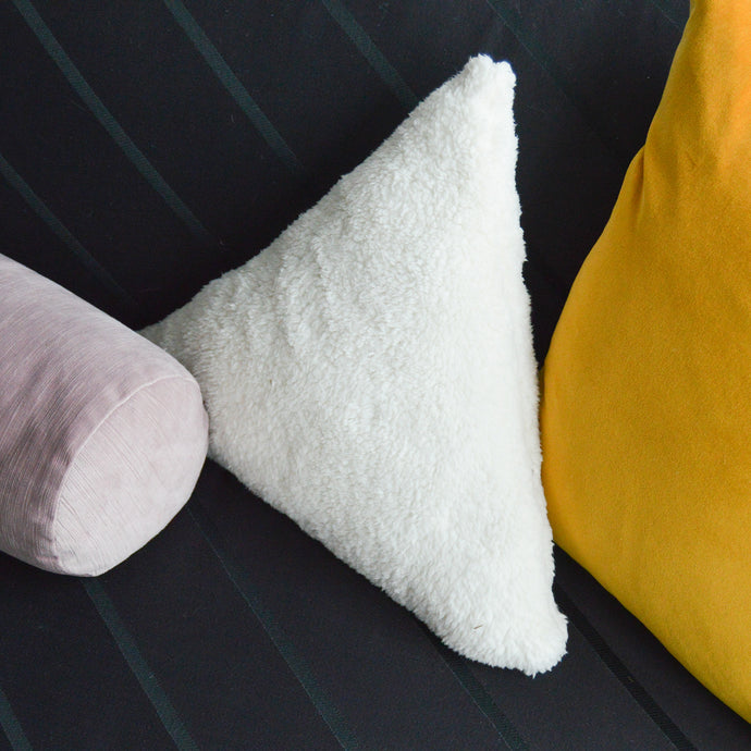 Sherpa Cloud Triangle Pillow