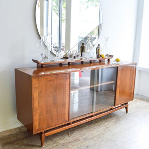 Winged Walnut Console