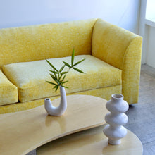 Load image into Gallery viewer, Milo Baughman Style Canary Yellow Tuxedo Sofa
