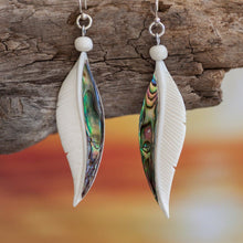 Load image into Gallery viewer, Abalone Feather Earrings Earring Bali Necklaces