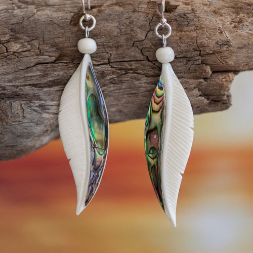 Abalone Feather Earrings Earring Bali Necklaces