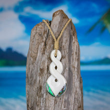 Load image into Gallery viewer, Double Abalone Twist Necklace Bali Necklaces