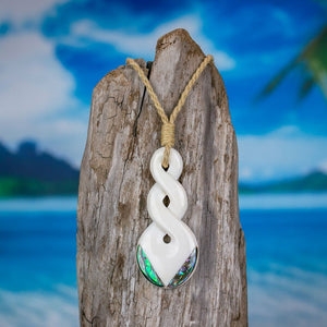 Double Abalone Twist Necklace Bali Necklaces