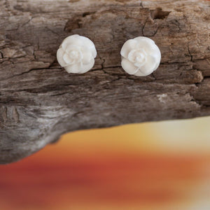 Rose Flower Studs Earring Bali Necklaces