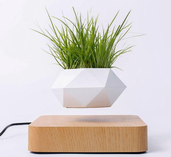 Imitation Wood Grain Levitating Flower Pot