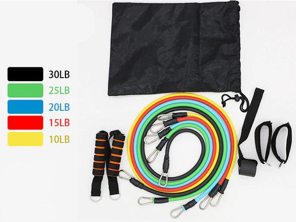Ultimate 11pc Resistance Band Exercise Kit