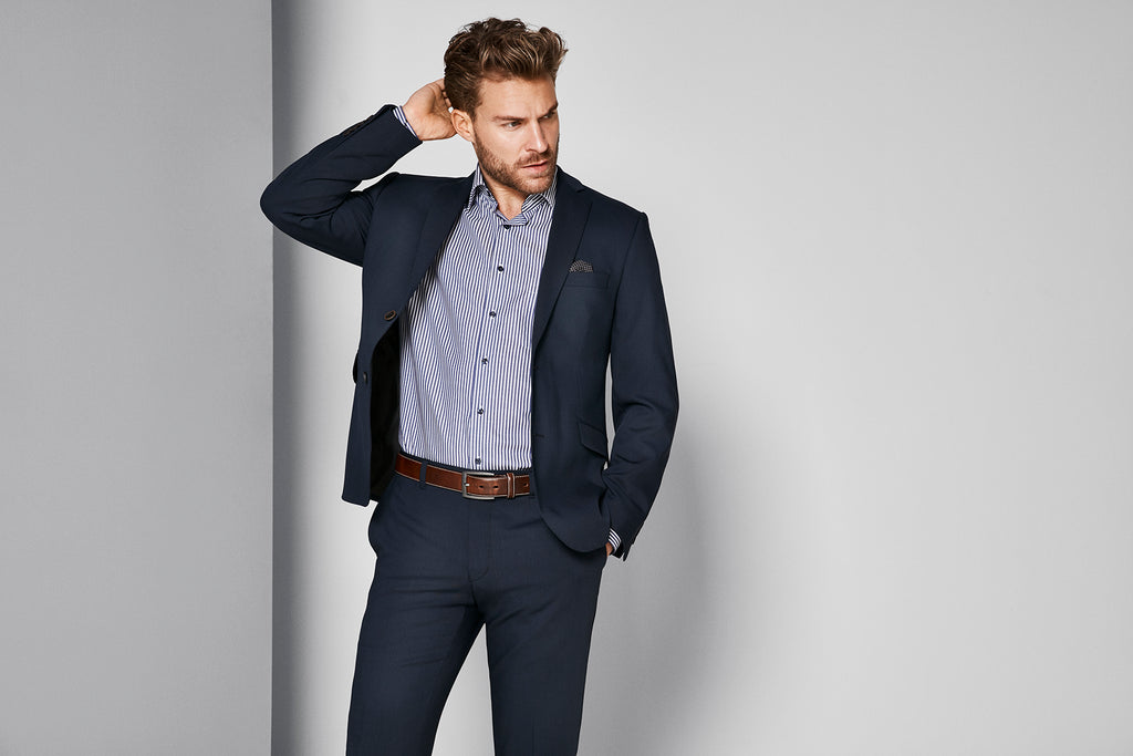 Traveller krølfri - Herreblazer - Modern fit Blue